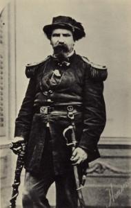 Kaiser Norton mit Stock und Säbel